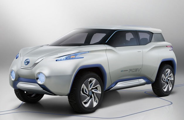 Nissan Terra electric suv concept front view