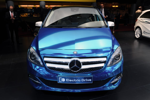 B-class electric drive front view at the Paris Motor Show