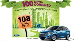 Ford Cmax Energi infograph showing mpg ratings