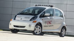 Mitsubishi i electric vehicle partnered with USC to test smart grid usage