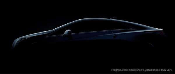 Tease of Cadillac ELR to be unveiled Jan 15th