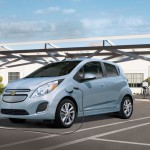 Chevy Spark EV charging picture