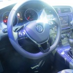 2015 Volkswagen e-Golf interior show showing dash and center console
