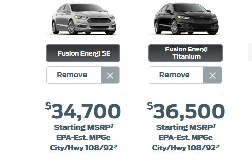 2014 ford fusion energi price reduction