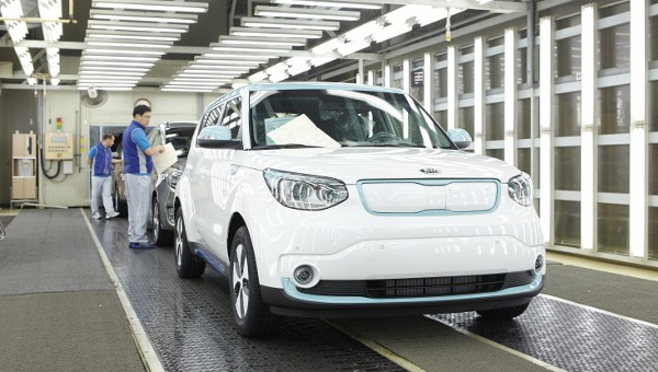 Kia Soul EV production for export