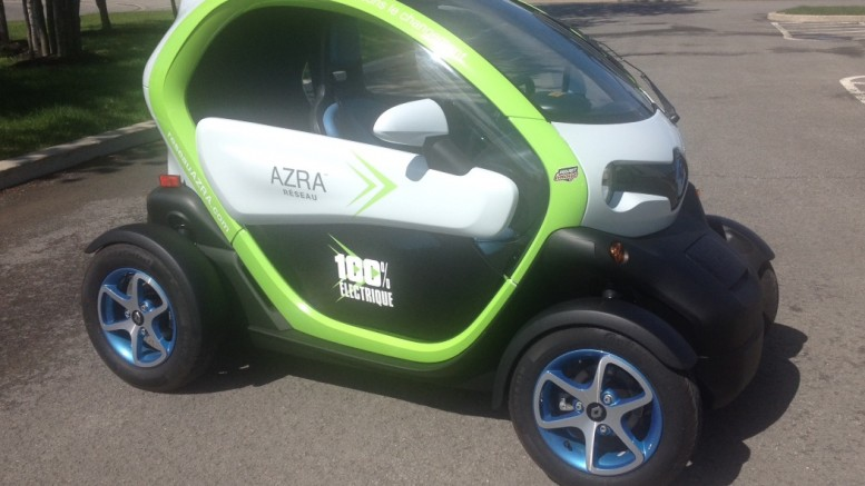 Renault Twizy in Canada by AZRA Network