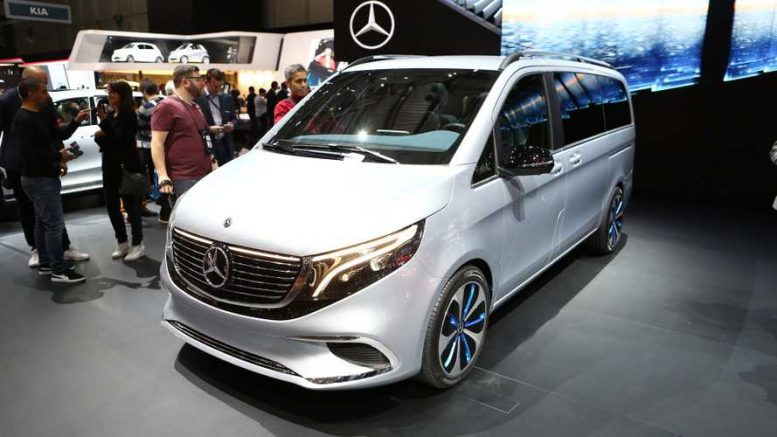 Mercedes Benz EQV and new EQ Concept headed to Frankfurt