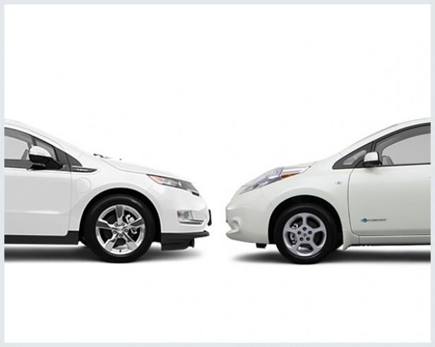 Photo Chevy Volt Vs Nissan Leaf