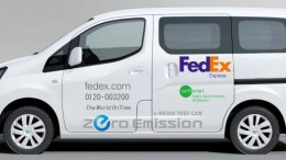 Nissan e-NV200 Fedex test vehicle