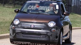 front view of near production ready Fiat 500e electric vehicle