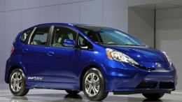 Honda Fit EV sideview from 2012 Auto Show