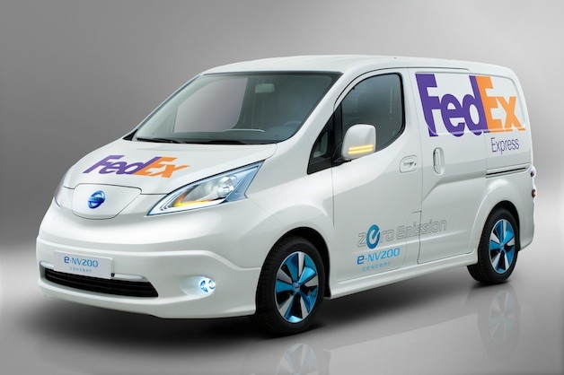 Fedex testing Nissan e-NV200 van