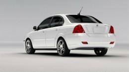 Coda Sedan rear view showing lack of tailpipe