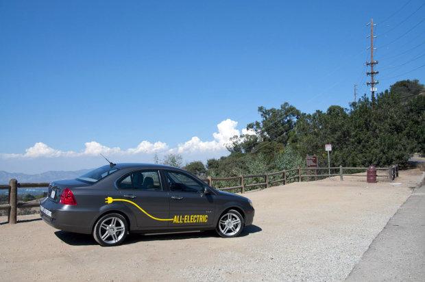 Coda Sedan side view