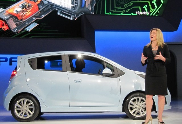 Side view of the Spark EV at the 2012 LA Auto Show