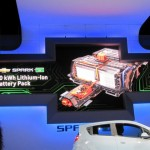 Display of battery pack in Chevy Spark EV at LA Auto SHow