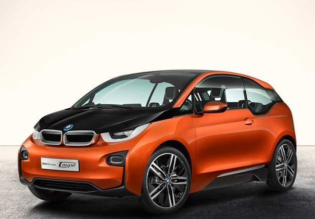 2014 BMW i3 2 door coupe side view