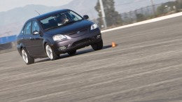 Track test by InsideLine of 2012 Coda Sedan