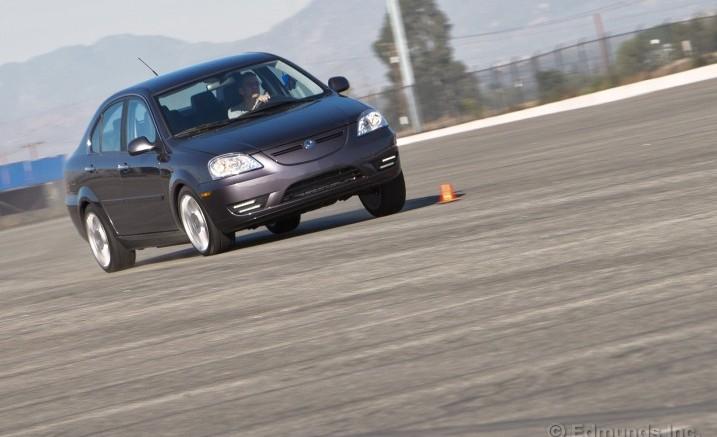 Track test by InsideLine of 2012 Coda Sedan