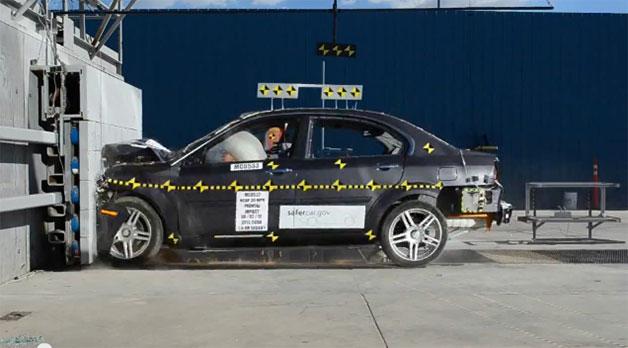 Frontal crash test of Coda Sedan by NHTSA earned 2 stars