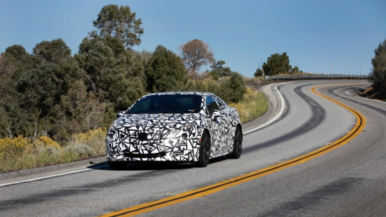 Cadillac ELR on a testing run in Southern California