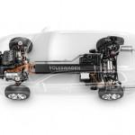 2013 VW CrossBlue plug-in hybrid Drivetrain layout