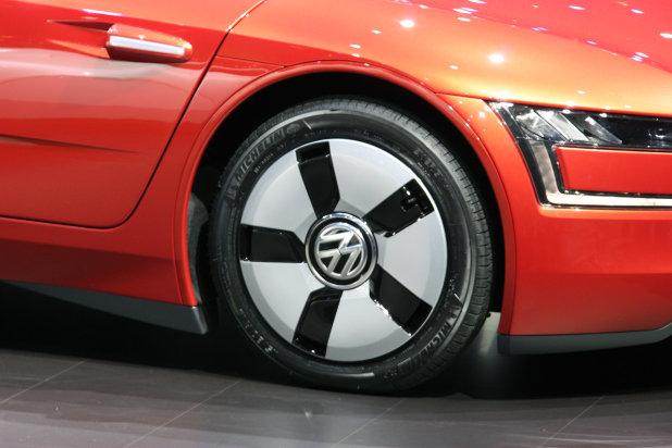 Red Volkswagen Xl1 At Geneva Auto Show View Of Aerodynamic