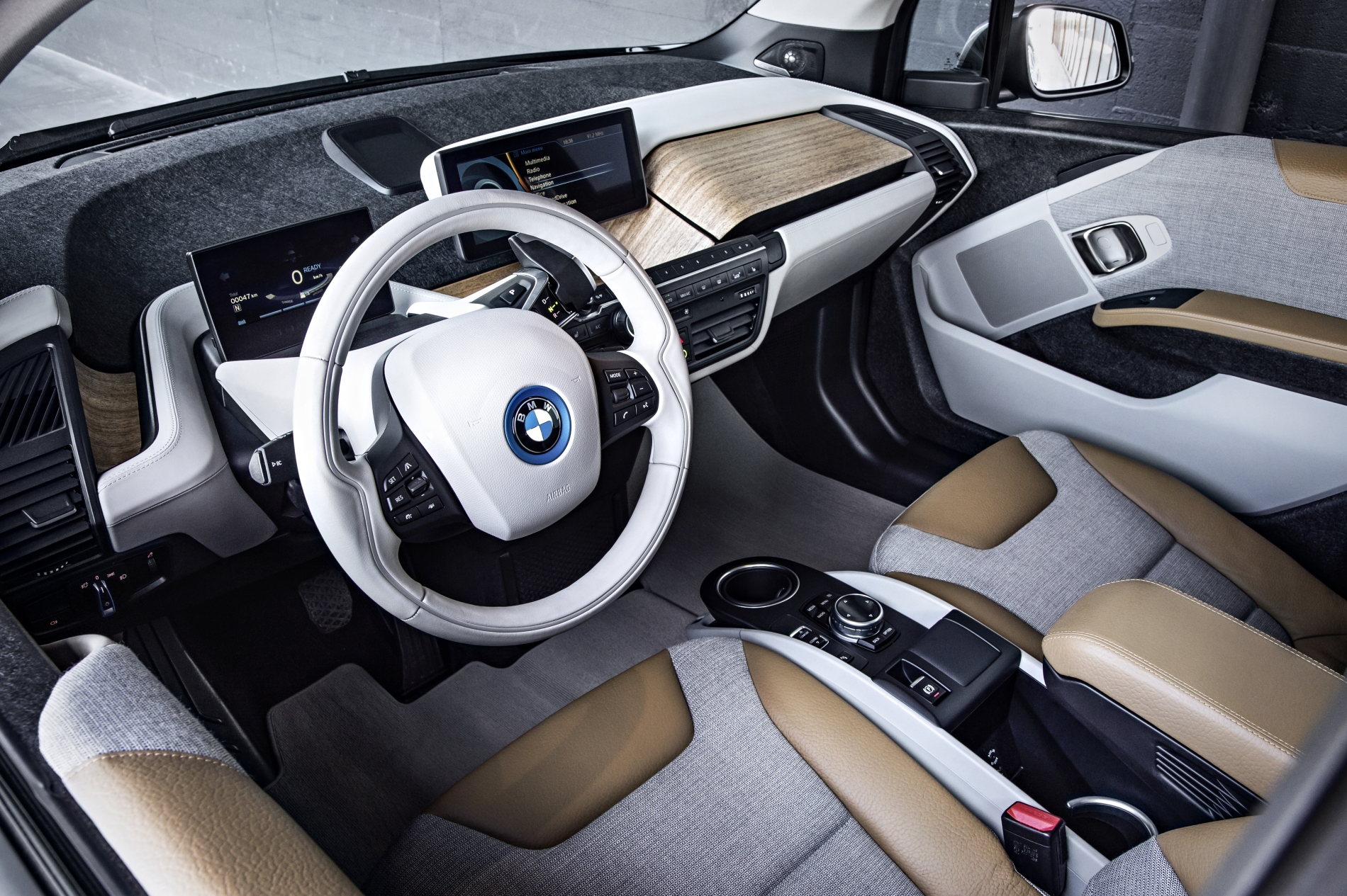 bmw i3 interior steering wheel dash with wood inserts | My ...