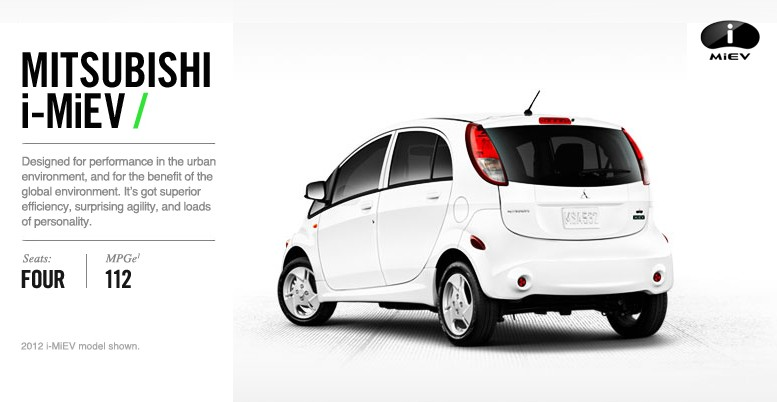 Mitsubishi i-MiEV price lowered substantially for 2014 | My Electric ...